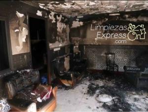 limpieza después de un incendio, limpieza por incendios, limpieza tras incendio
