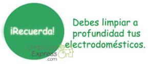 limpieza y cuidado de electrodomesticos, alargar vida de electrodomesticos, mantenimiento de electrodomesticos