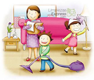 cómo limpiar en familia, limpieza en familia, Limpiar la casa en familia