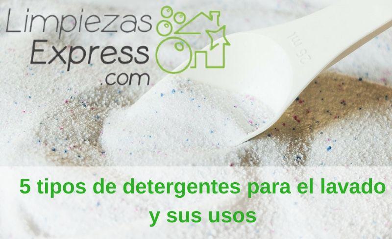 5 tipos de detergentes y sus usos