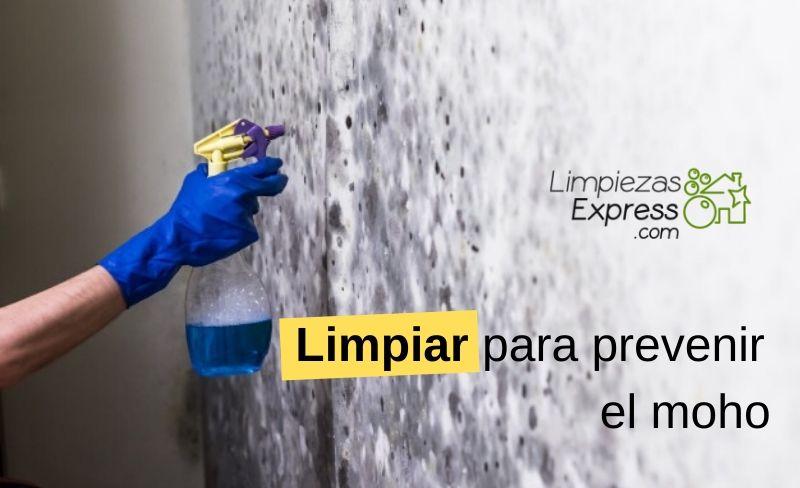 Limpiar para prevenir el moho