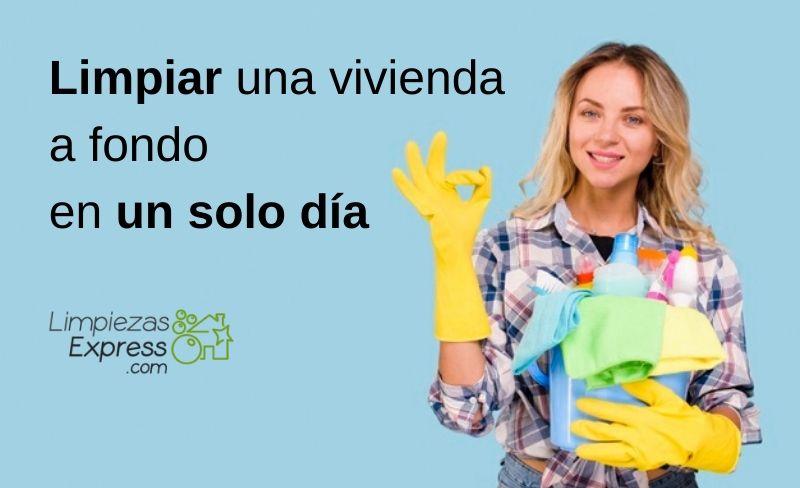 Limpiar una vivienda a fondo en un solo día