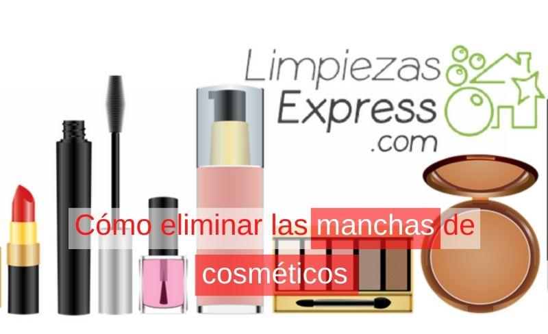 cómo eliminar manchas de los cosméticos