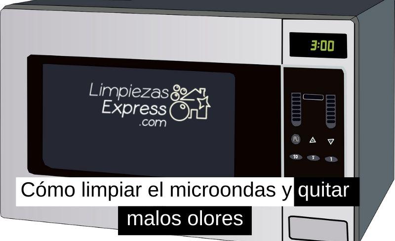 cómo limpiar el microondas y quitar malos olores