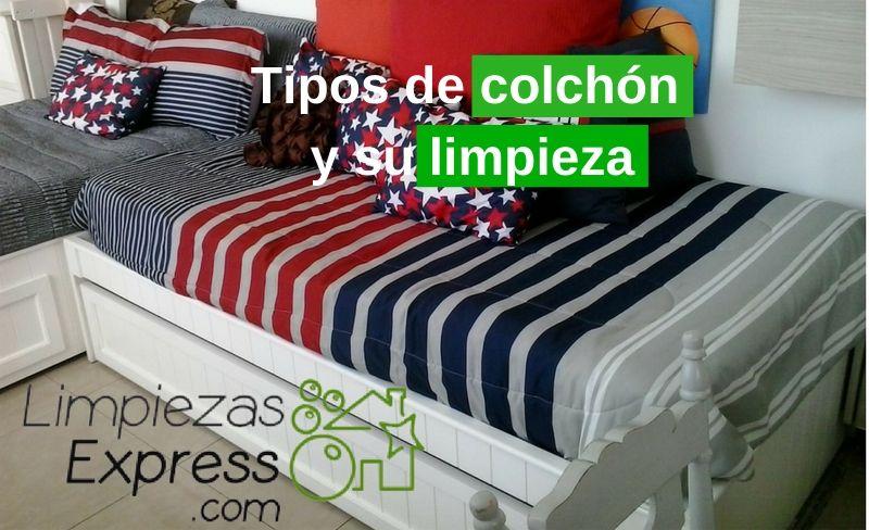 Tipos de colchón y su limpieza