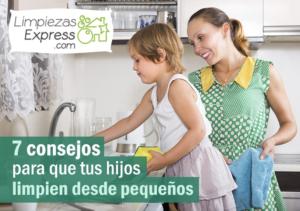 consejos para limpiar con tus hijos