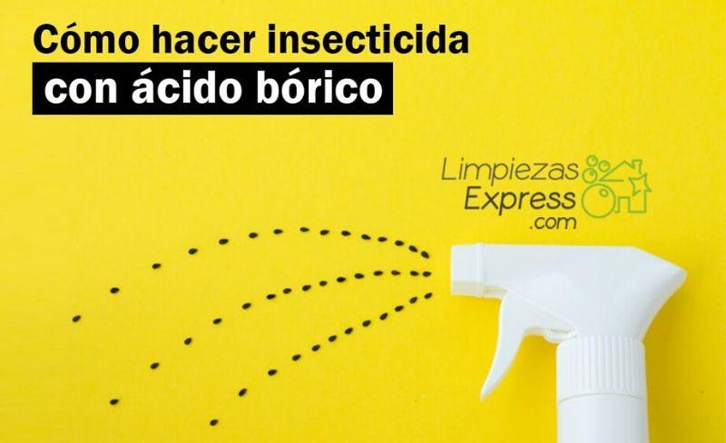 Cómo hacer insecticida con ácido bórico