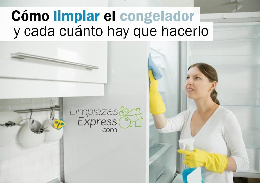limpiar el congelador