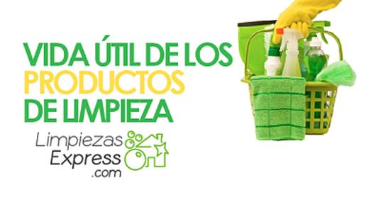vida útil productos de limpieza