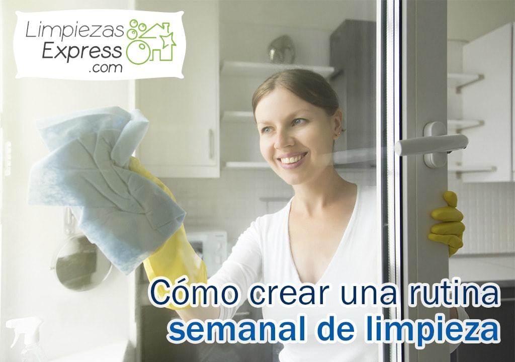 crear rutina de limpieza