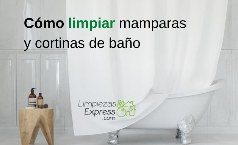 Cómo limpiar mamparas y cortinas de baño