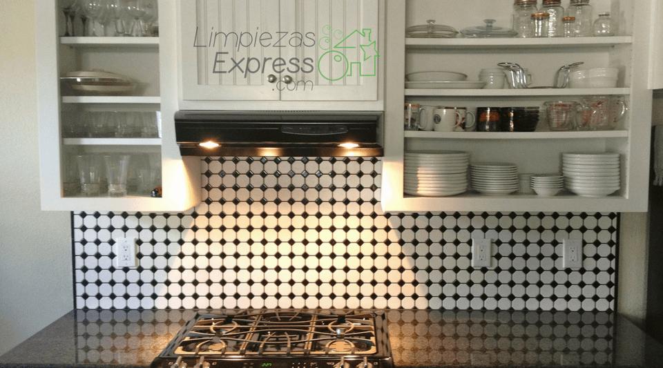limpiar azulejos de la cocina, limpieza de cocina, cocina limpia