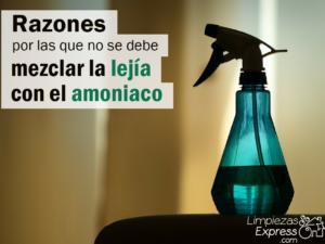 mezclar lejia y amoniaco, no mezclar lejia y amoniaco, mezcla de productos de limpieza,