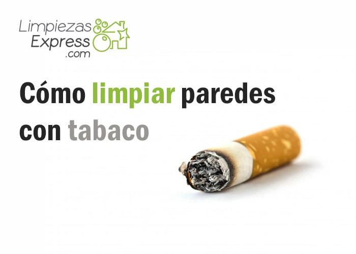 Limpiar paredes con manchas de tabaco trucos limpieza - Eliminar olor tabaco casa ...