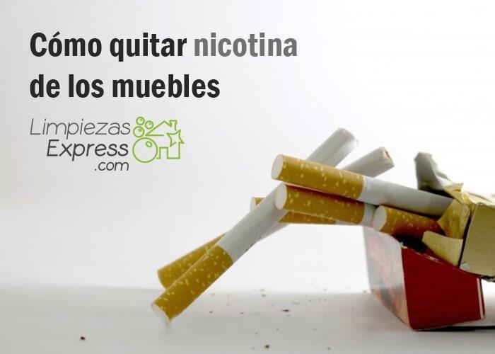 quitar nicotina de los muebles