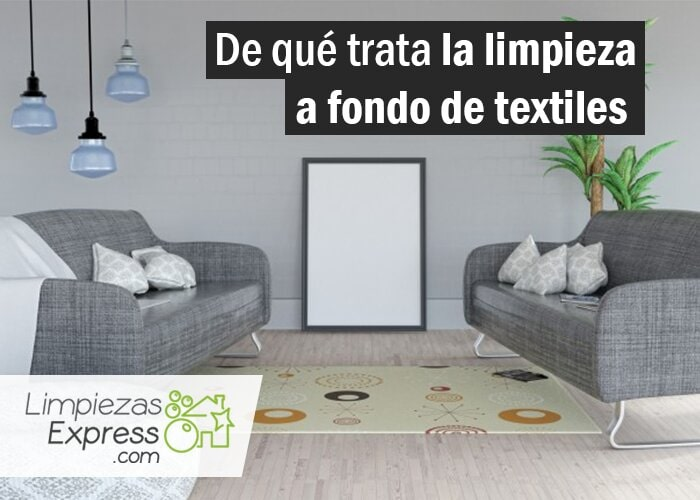 limpieza a fondo de textiles