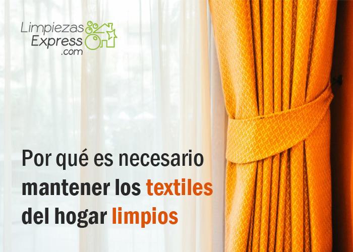 mantener los textiles del hogar limpios