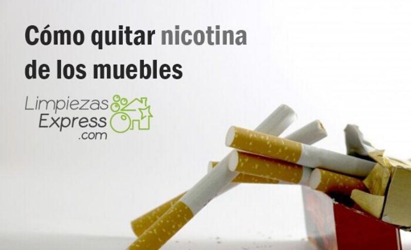 eliminar el olor a nicotina de los muebles