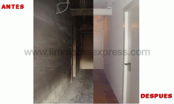 Limpieza de casas por incendio