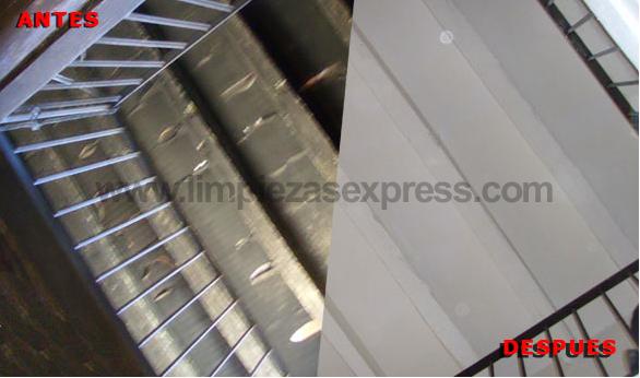 Limpieza de escaleras por incendio
