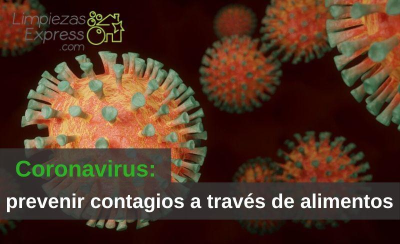 Coronavirus: Recomendaciones para prevenir el contagio a través de alimentos
