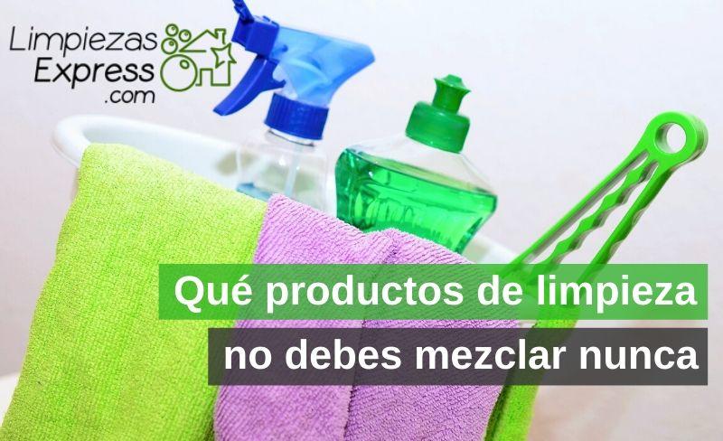 Qué productos de limpieza no debes mezclar nunca
