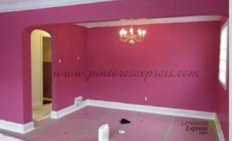 Salón antes de ser pintado