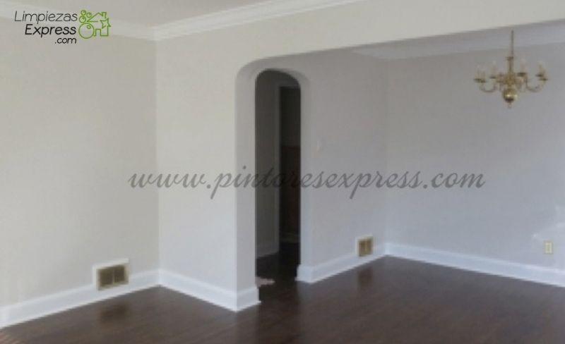 Salón después de ser pintado