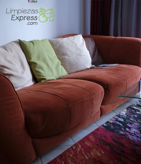 Limpieza profesional de muebles y textiles